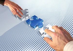 puzzle manos innovacion i+d+i tecnología moderno
